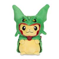 Pikachu with Rayquaza Hoodie Poké Plush (Standard) - 9 In.