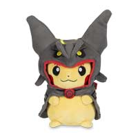 Pikachu with Shiny Rayquaza Hoodie Poké Plush (Standard) - 9 In.