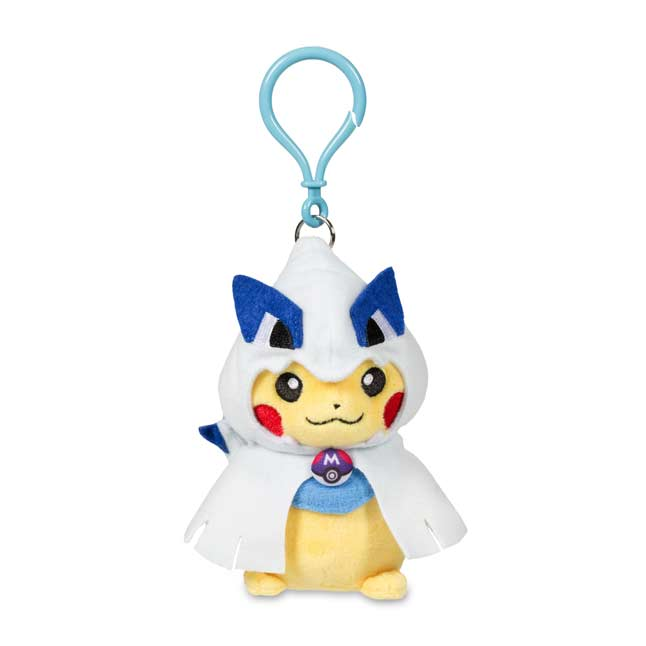 Image for Pikachu with Lugia Hoodie Poké Plush Keychain from Pokemon Center