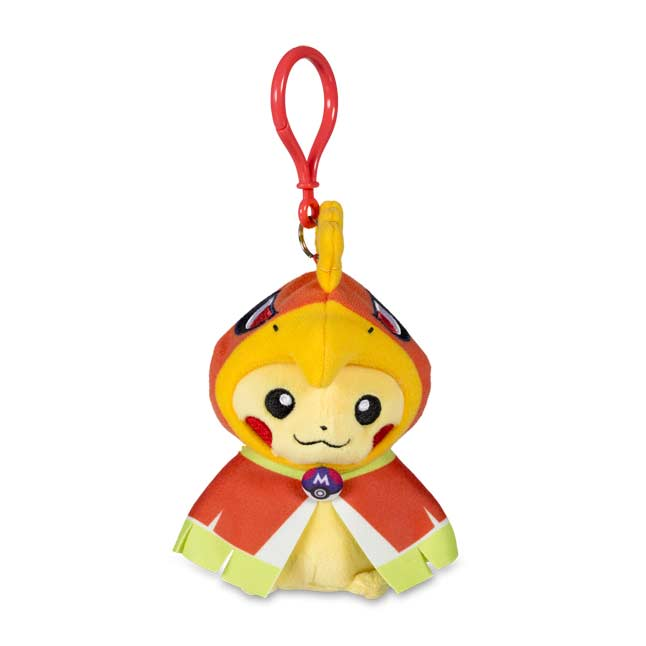 Image for Pikachu with Ho-Oh Hoodie Poké Plush Keychain from Pokemon Center