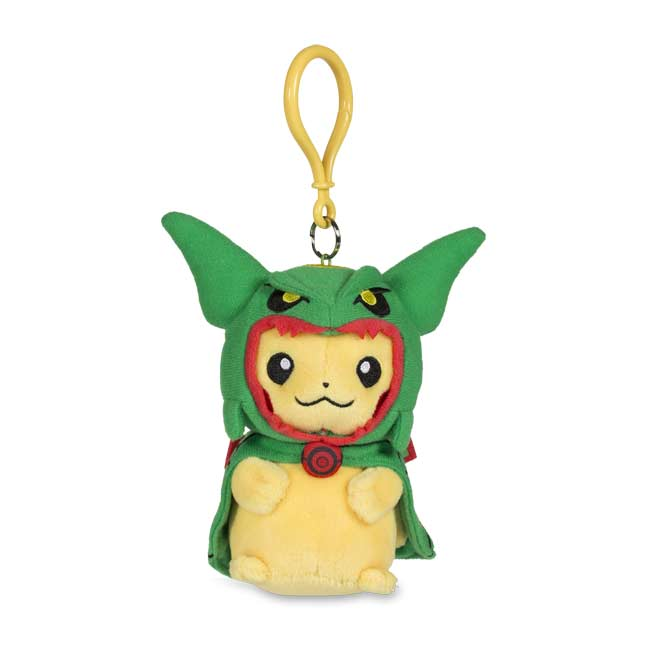 Image for Pikachu with Rayquaza Hoodie Poké Plush Keychain from Pokemon Center