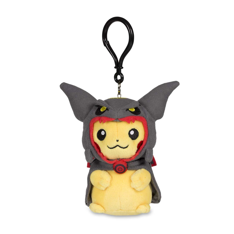 Pikachu with Shiny Rayquaza Hoodie Poké Plush Keychain