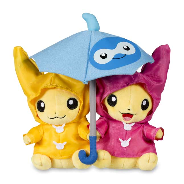 "Image for Paired Pikachu Celebrations Umbrella for Two Pikachu Plush - 8"" from Pokemon Center"