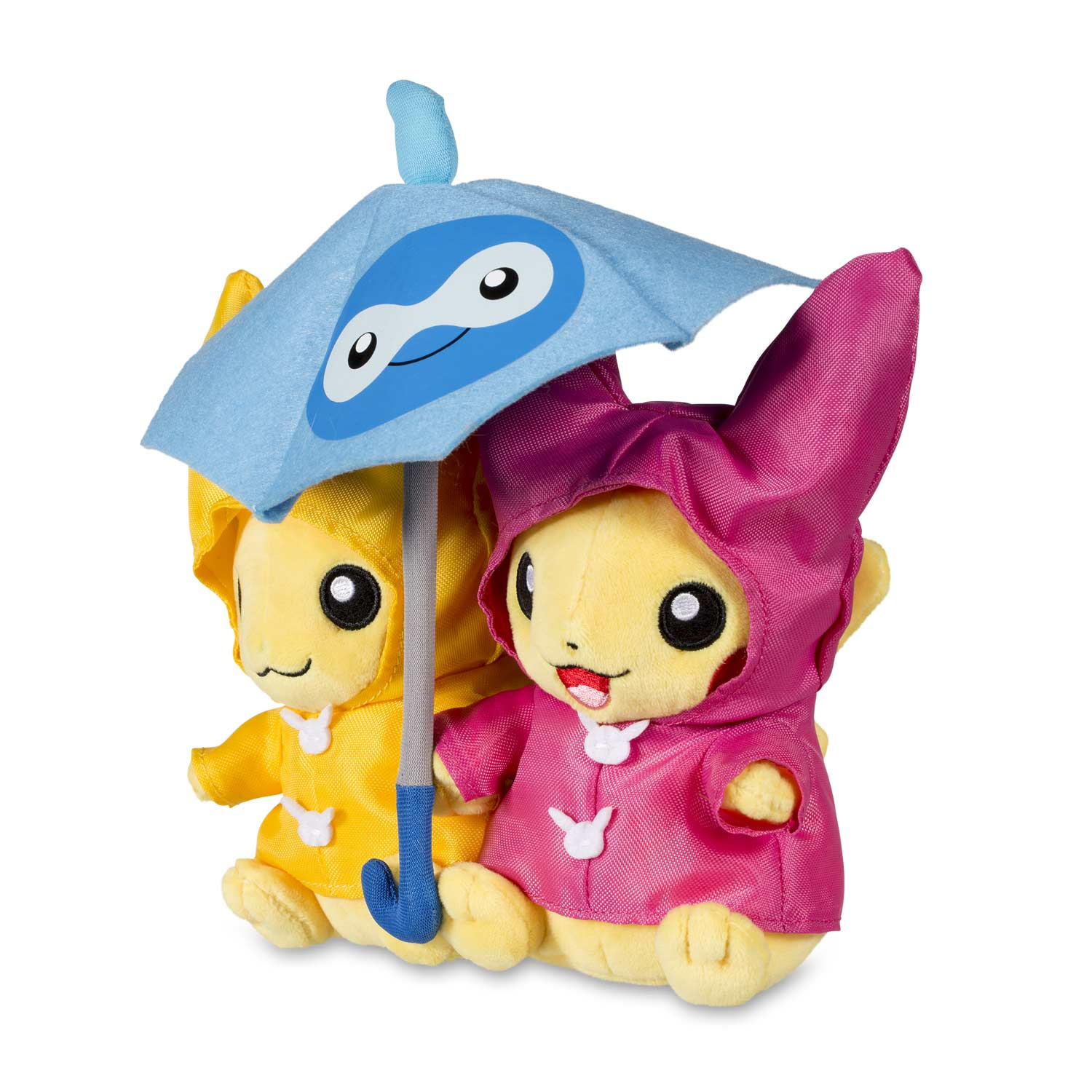 4c4f657d ... Image for Paired Pikachu Celebrations Umbrella for Two Pikachu Plush - 8  In. from Pokemon ...