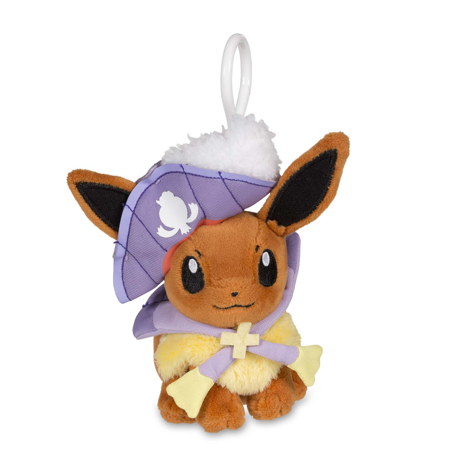 image for eevee halloween circus plush keychain from pokemon center