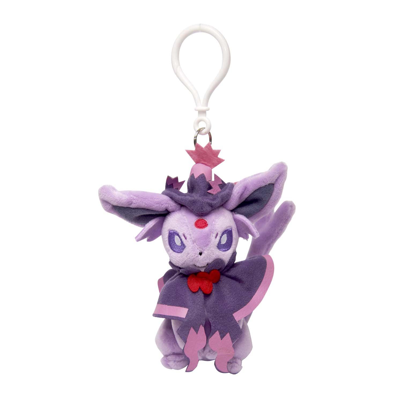 image for espeon halloween circus plush keychain from pokemon center