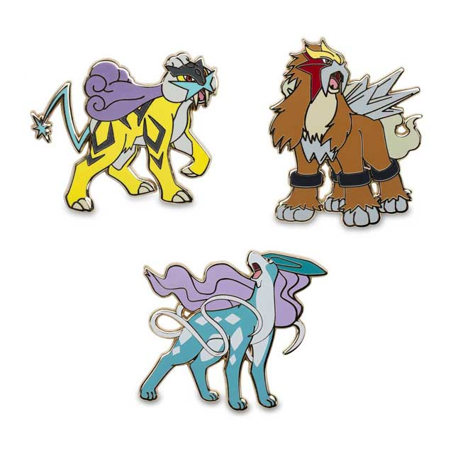 Image for Raikou Entei Suicune Pokémon Pins from Pokemon Center