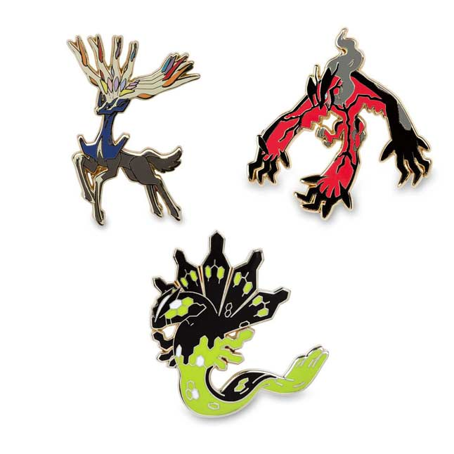 Image for Xerneas Yveltal Zygarde Pokémon Pins from Pokemon Center