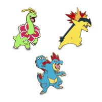 Image for Meganium Typhlosion Feraligatr Pokémon Pins from Pokemon Center