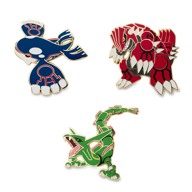 Image for Kyogre Groudon Rayquaza Pokémon Pins from Pokemon Center
