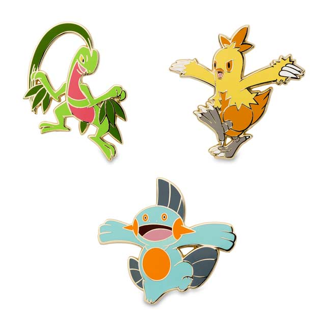 Image for Grovyle Combusken Marshtomp Pokémon Pins from Pokemon Center