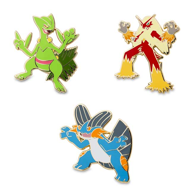 Image for Sceptile Blaziken Swampert Pokémon Pins from Pokemon Center