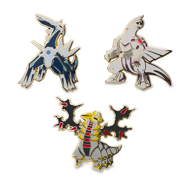Image for Dialga Palkia Giratina Pokémon Pins from Pokemon Center