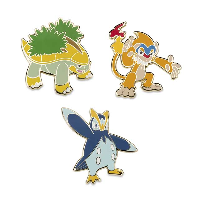 Image for Grotle Monferno Prinplup Pokémon Pins from Pokemon Center
