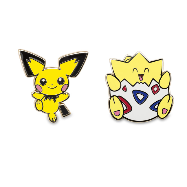 Image for Pichu and Togepi Pokémon Pins from Pokemon Center