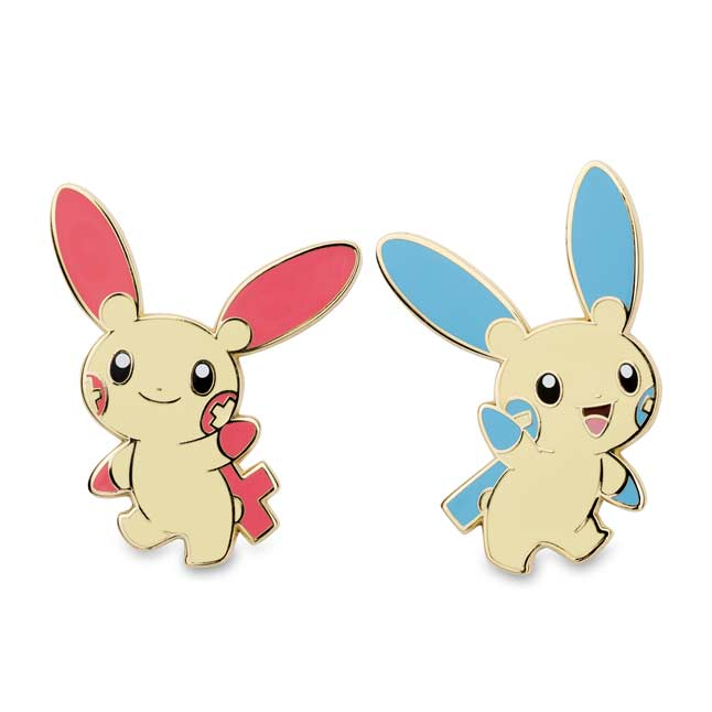 Image for Plusle and Minun Pokémon Pins from Pokemon Center