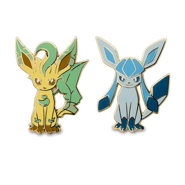 Image for Leafeon and Glaceon Pokémon Pins from Pokemon Center