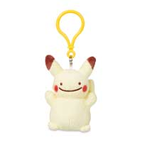 Ditto as Pikachu Plush Keychain