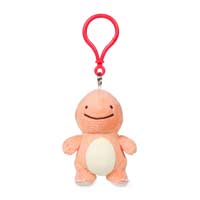 Ditto as Charmander Plush Keychain