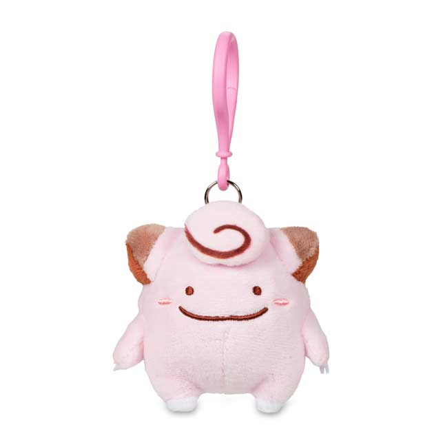 Image for Ditto as Clefairy Plush Keychain from Pokemon Center