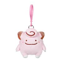 Ditto as Clefairy Plush Keychain