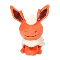 Ditto as Flareon Poké Plush (Standard Size) - 6 1/2 In.