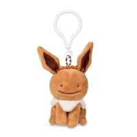 Ditto as Eevee Plush Keychain