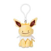 Ditto as Jolteon Plush Keychain