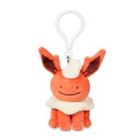 Ditto as Flareon Plush Keychain