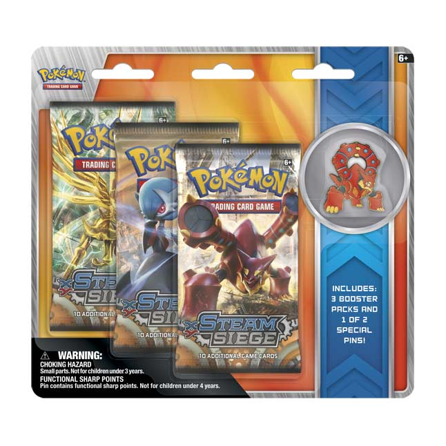 Image for Pokémon TCG: XY—Steam Siege Boosters (3 Booster Packs with Volcanion Collector's Pin) from Pokemon Center