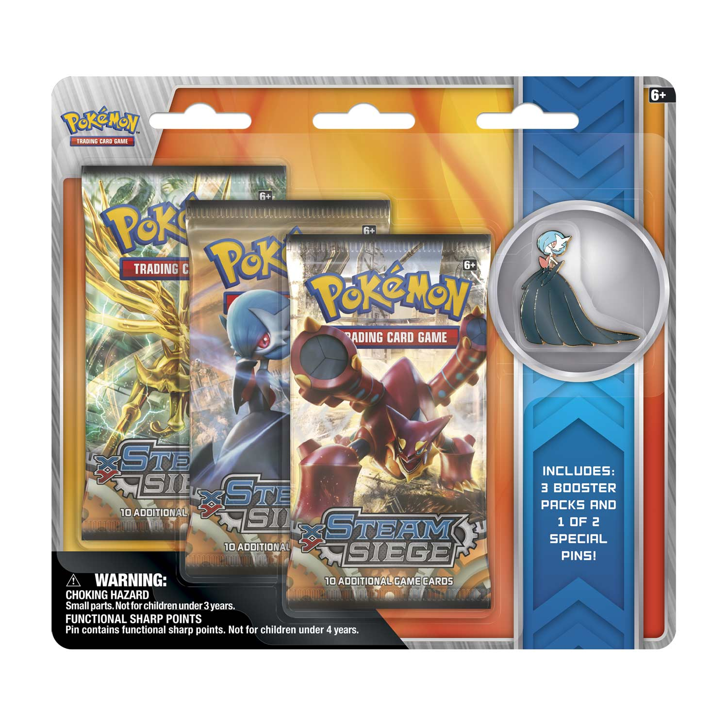 Image for Pokémon TCG  XY—Steam Siege Boosters (3 Booster Packs with Mega 755c30546