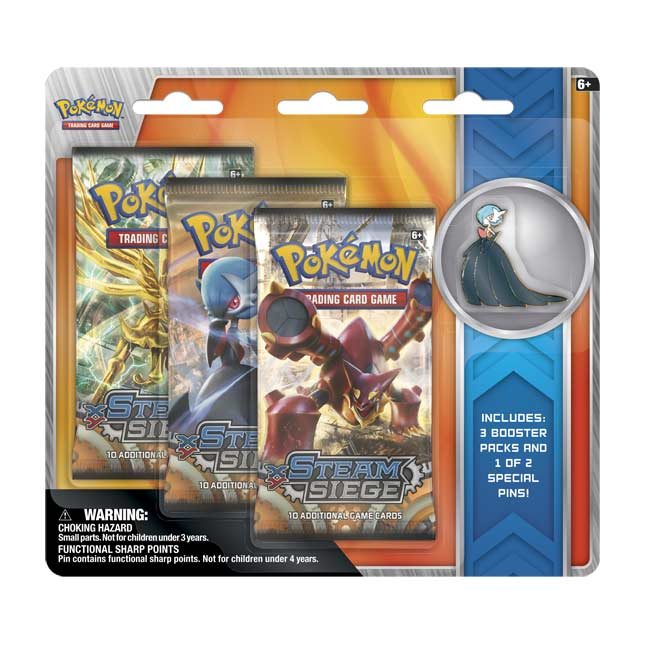 Image for Pokémon TCG: XY—Steam Siege Boosters (3 Booster Packs with Mega Gardevoir Collector's Pin) from Pokemon Center