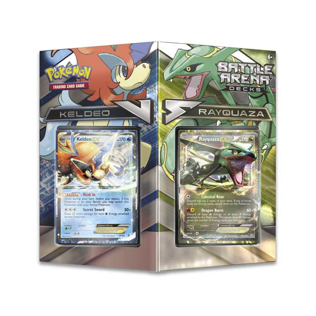 Image for Pokémon TCG: Battle Arena Decks Rayquaza vs. Keldeo from Pokemon Center
