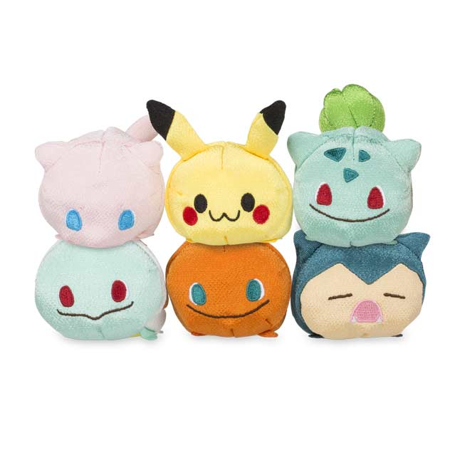 Image for 6-Piece Chirimen Beanbag Plush Set from Pokemon Center
