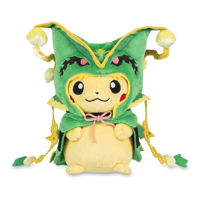 "Image for Pikachu with Mega Rayquaza Hoodie Poké Plush (Standard) - 8 1/2"" from Pokemon Center"