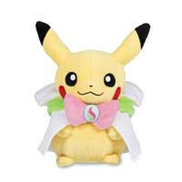 Image for Pikachu with Mega Gardevoir Hoodie Poké Plush (Standard) - 8 In. from Pokemon Center