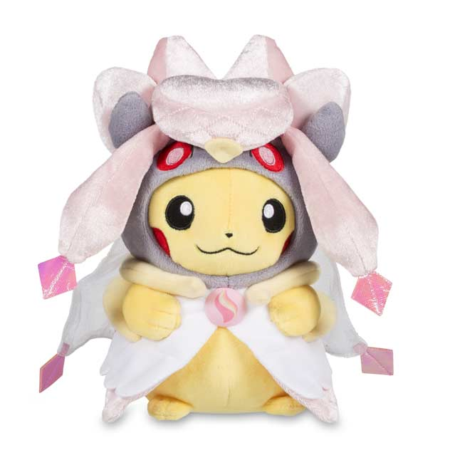 "Image for Pikachu with Mega Diancie Hoodie Poké Plush (Standard) - 8"" from Pokemon Center"