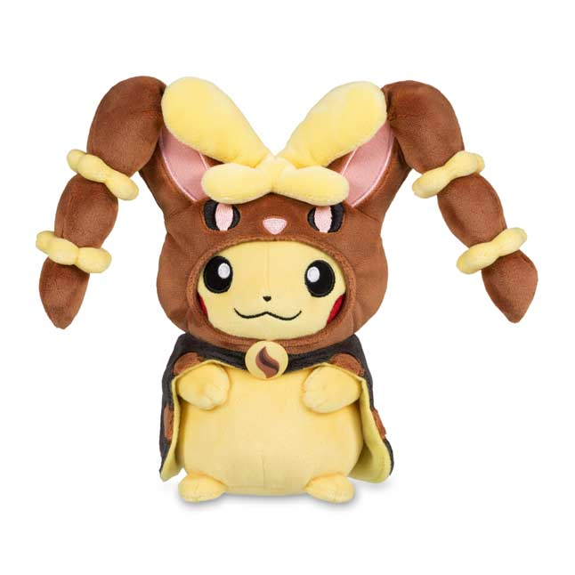 "Image for Pikachu with Mega Lopunny Hoodie Poké Plush (Standard) - 8.5"" from Pokemon Center"