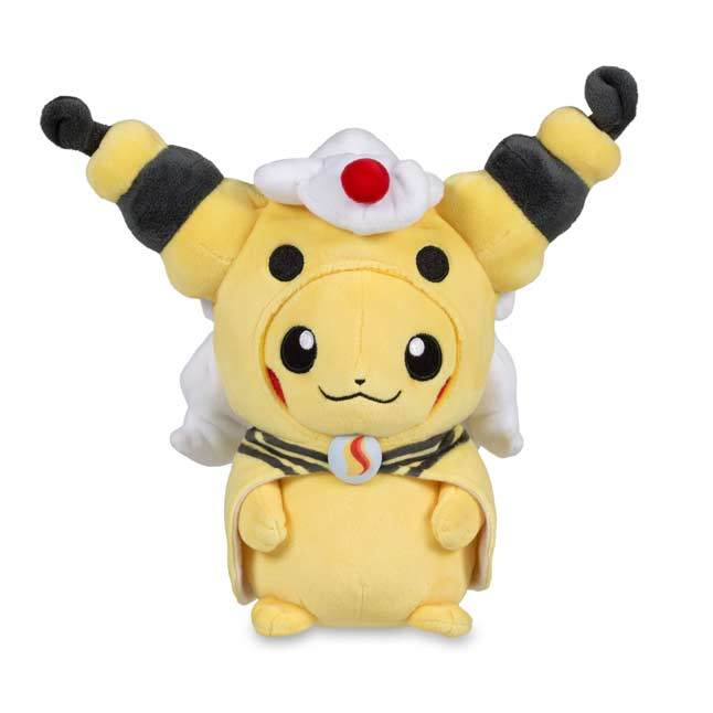 "Image for Pikachu with Mega Ampharos Hoodie Poké Plush (Standard) - 9"" from Pokemon Center"