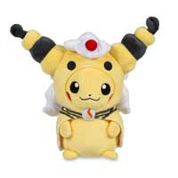 Pikachu with Mega Ampharos Hoodie Poké Plush (Standard) - 9 In.