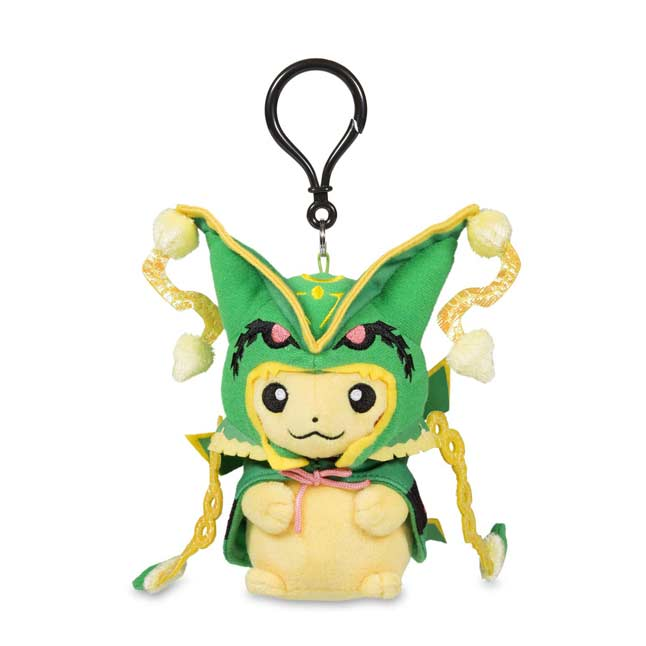 Image for Pikachu with Mega Rayquaza Hoodie Plush Keychain from Pokemon Center