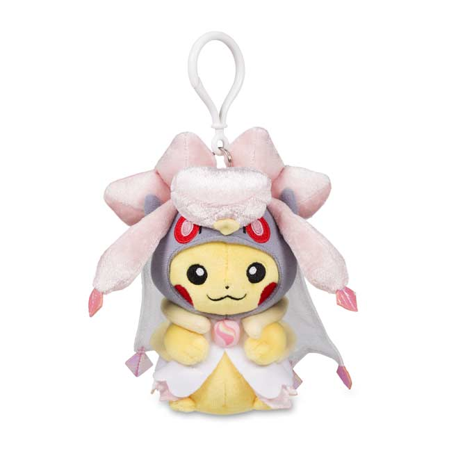 Image for Pikachu with Mega Diancie Hoodie Plush Keychain from Pokemon Center