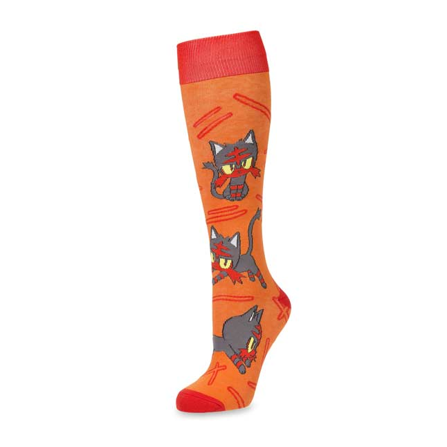 Image for Litten Mid-Calf Socks (Adult-One Size) from Pokemon Center