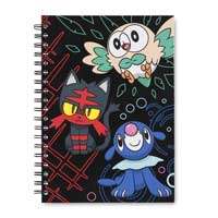 Image for Rowlet Litten Popplio Notebook (200 Ruled Pages) from Pokemon Center