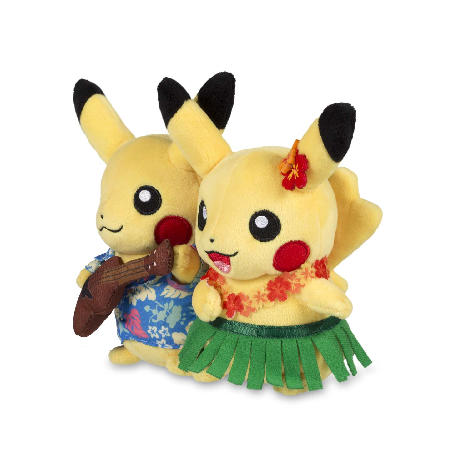 85d1826c ... Image for Paired Pikachu Celebrations: Hawaiian Pikachu Plush - 8 In.  from Pokemon Center ...