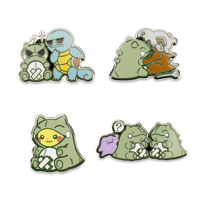Image for Pokémon-Amie Substitute Pin Set (4 Pack) from Pokemon Center