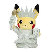 Around the World Liberty Pikachu Poké Plush (Standard) - 8 1/2 In.