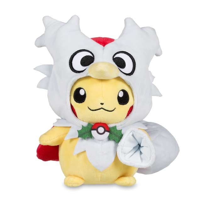 "Image for Pikachu Delibird Cape Poké Plush (Standard) - 8"" from Pokemon Center"