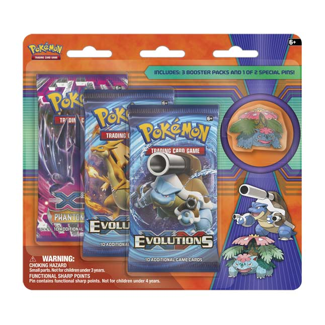 Image for Pokémon TCG: 3 Booster Packs with Mega Venusaur Collector's Pin from Pokemon Center