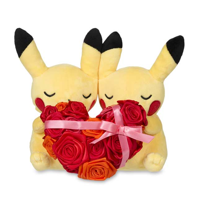 "Image for Paired Pikachu Celebrations: Sweetheart Pikachu Plush - 8"" from Pokemon Center"